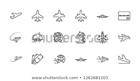 Landing aircraft line icon. Stock photo © RAStudio