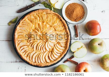 appel · appels · kokosnoot · rozijnen · ondiep · voedsel - stockfoto © digifoodstock