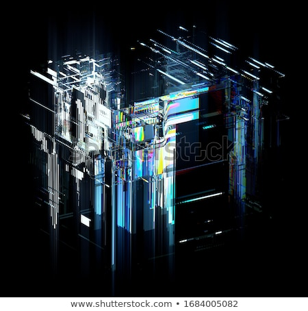 big data in blue glass cubes Stock photo © marinini