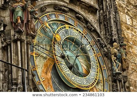 Prága · csillagászati · óra · Csehország · ház · idő - stock fotó © jonnysek