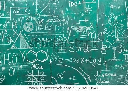 math on blackboard banner stock photo © marinini