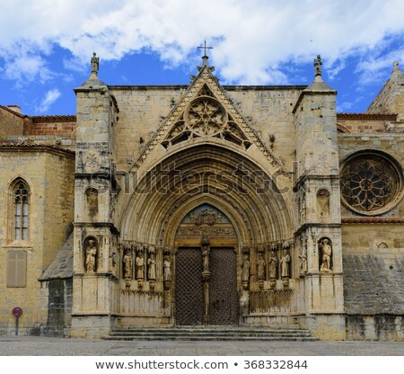 Top of Morella Castle. Province of Castellon, Spain Stock photo © amok