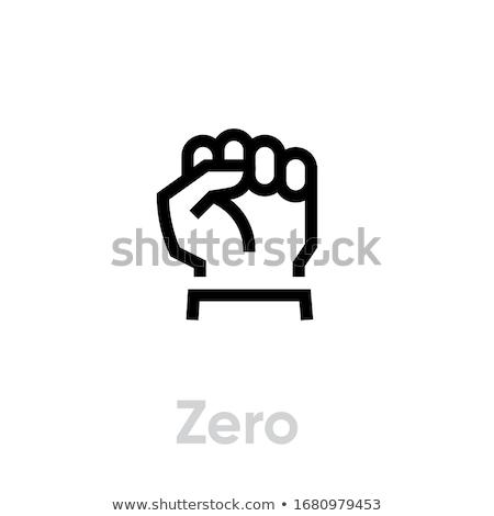 Rabisco zero punho ícone gesto Foto stock © pakete