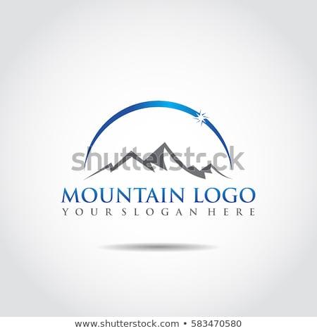 montanhas · logotipo · modelo · céu · abstrato · paisagem - foto stock © ggs