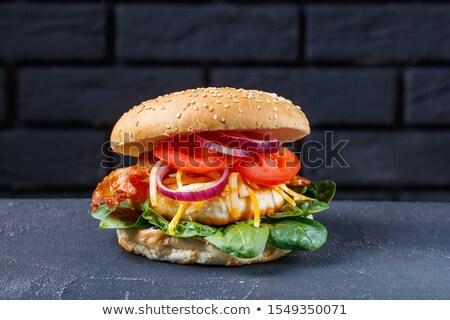 Ropogós szalonna mustár serpenyő sült szeletek Stock fotó © Digifoodstock