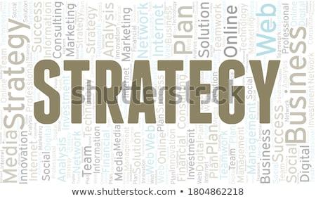 Strategie Wort Schule Bord Hintergrund Bildung Stock foto © fuzzbones0