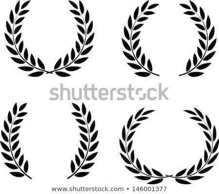 Stock photo: Shield with wreath and laurel