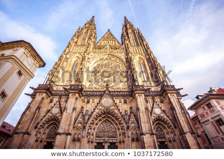 Entrance of the Castle of Prague Stock photo © LucVi