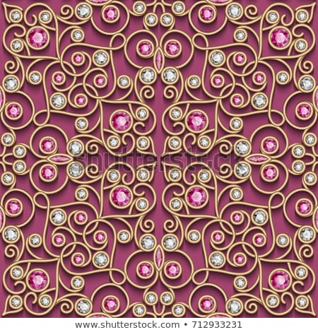Ruby seamless pattern. Precious stones. Vector red background. Stock photo © MaryValery