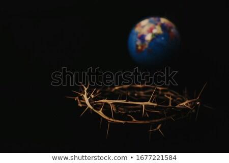 Brąz posąg Jezusa Chrystusa krzyż kościoła Zdjęcia stock © bubutu
