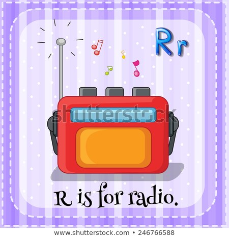 Flashcard letter R is for radio Stock photo © bluering
