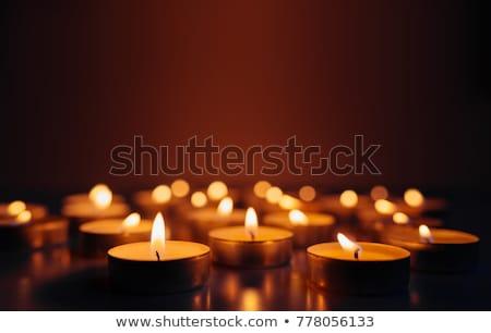 Сток-фото: сжигание · свечей · мелкий · области · многие · огня