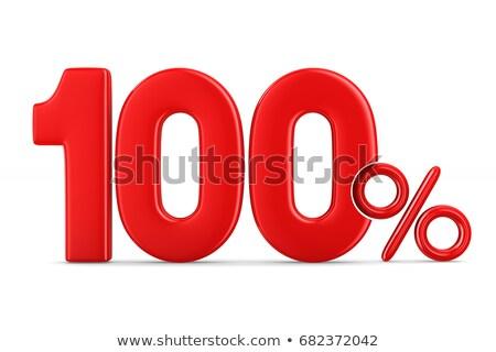 Red one percent Stock photo © Oakozhan