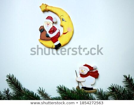 улыбаясь · снеговик · дома · ярко · красный · Hat - Сток-фото © romvo