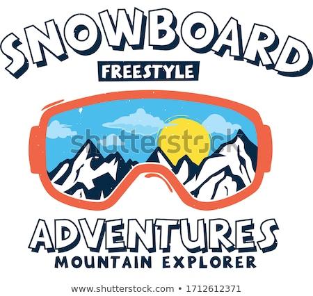 snowboard silhouette in winter Stock photo © adrenalina