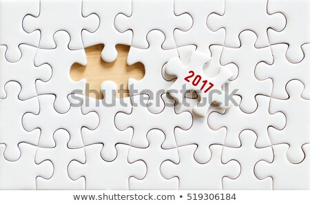 2017 number on jigsaw puzzle Stock photo © stevanovicigor