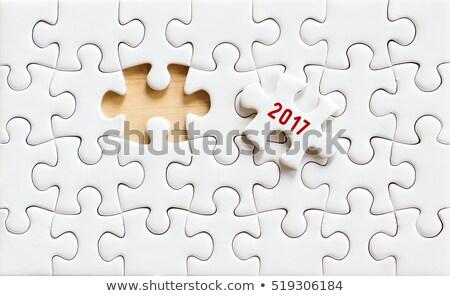 2017 number on jigsaw puzzle Stock photo © stevanovicigor