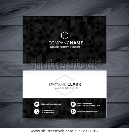 dark modern business card design template Stock photo © SArts