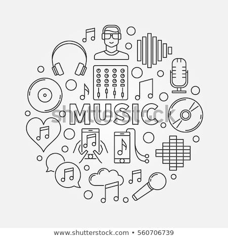 téléchargement · musique · ligne · icône · web - photo stock © rastudio