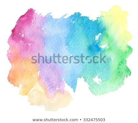 Photo stock: Coloré · vagues · isolé · résumé · automne · orange