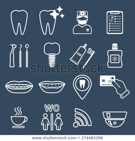 dental probe line icon stock photo © rastudio
