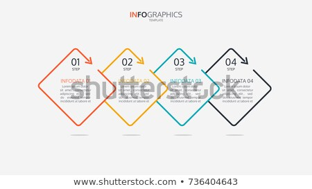 infographic vector template with four options for business conce stock photo © sarts