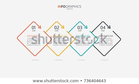 Vector sjabloon vier opties business Stockfoto © SArts