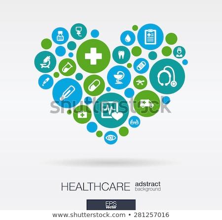 colorful health care cross symbol stock photo © tefi