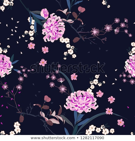 spring sakura blossom seamless background vector illustration stock photo © carodi