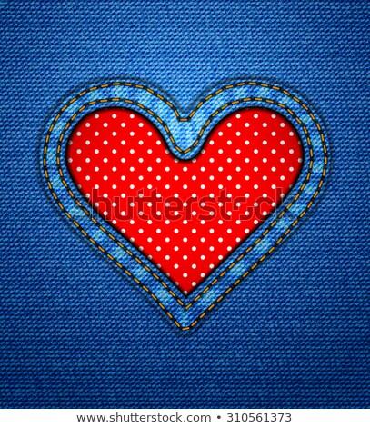 Jeans hart frame Valentijn textuur Stockfoto © SwillSkill