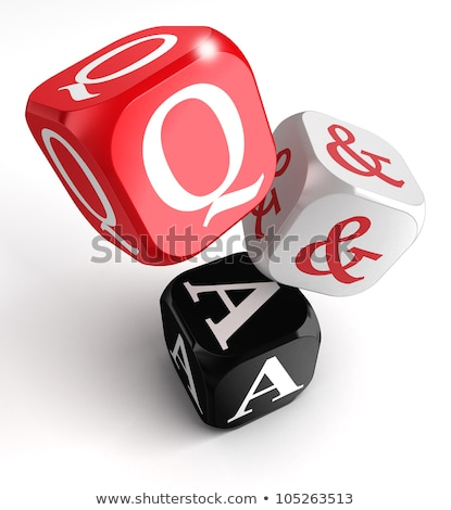 Letter Dice On A White Background - Why Сток-фото © donskarpo