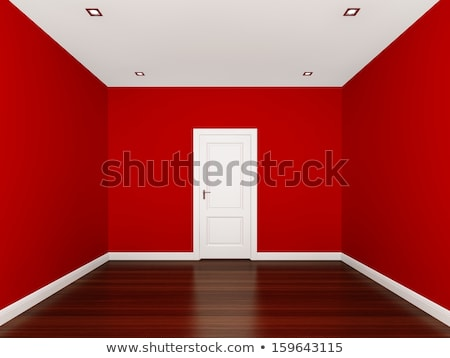 3D design for building with red windows and door Stock photo © bluering