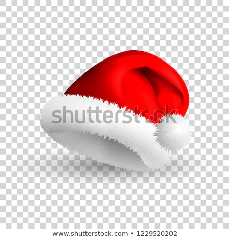 Single Santa Claus Red Hat Realistic Illustration. Stock photo © robuart
