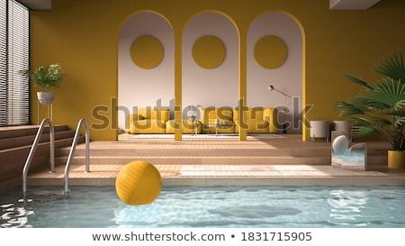 Medence lépcső lefelé víz sport háttér Stock fotó © BrandonSeidel