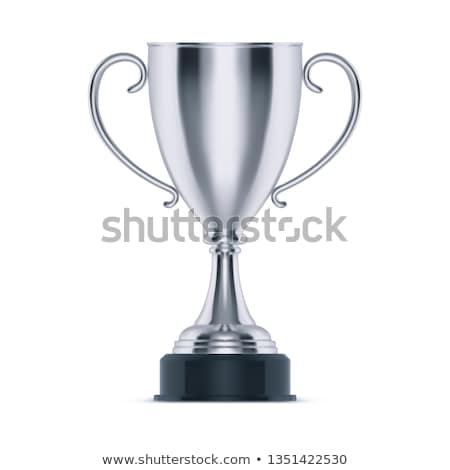 Zilver trofee beker geïsoleerd witte overwinning Stockfoto © pakete