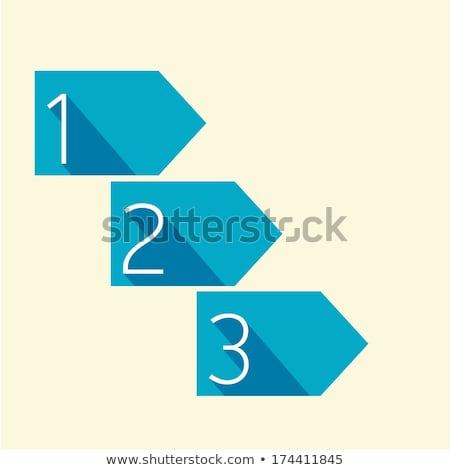 Uno dos tres vector progreso plantilla Foto stock © orson