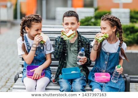Sandwich · Zeit · Club · Sandwiches · Platte · weiß - stock foto © m-studio
