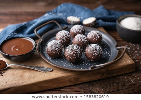 шоколадом кокосового разделочная доска продовольствие конфеты Сток-фото © Digifoodstock