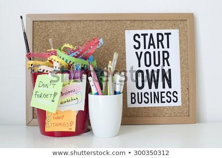Começar próprio negócio guiá masculino mãos Foto stock © stevanovicigor
