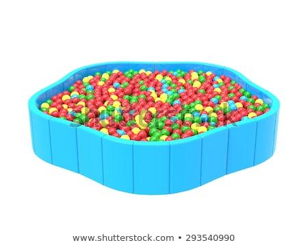 Stok fotoğraf: Sarı · top · yüzme · havuzu · mavi · su