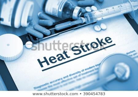 Diagnoza ciepła medycznych 3d ilustracji wydrukowane czerwony Zdjęcia stock © tashatuvango