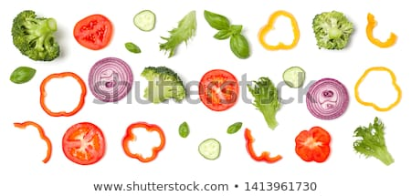Onions cut isolated. Vegetable slice on white background Stock photo © MaryValery