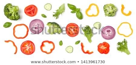 グループ · 玉葱 · 孤立した · 白 · 背景 · 赤 - ストックフォト © maryvalery
