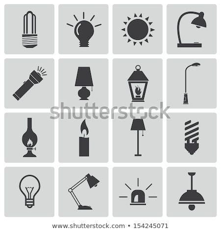Electric Torch Light Icon with Set Stock photo © ahasoft