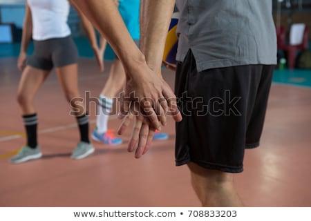 Male sportsperson holding volleyball Stock photo © wavebreak_media