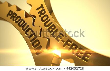 maquinaria · engenharia · dourado · metálico · engrenagens · mecanismo - foto stock © tashatuvango