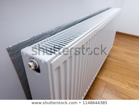 Branco aquecimento radiador quarto casa tubo Foto stock © ssuaphoto