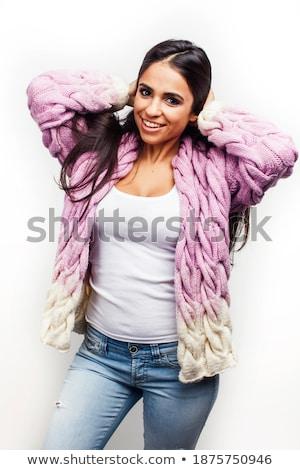 小さな 幸せ 笑みを浮かべて アメリカン 十代の少女 ストックフォト © iordani