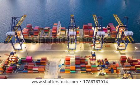 Portu działalności przemysłu kolor Europie pojemnik Zdjęcia stock © IS2