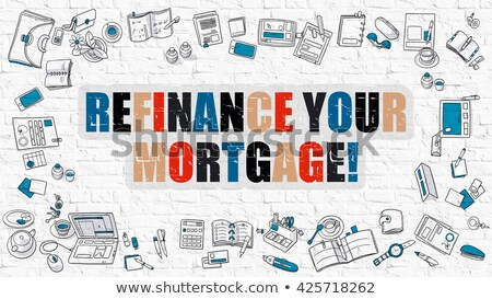Hypothèque blanche modernes ligne style illustration Photo stock © tashatuvango